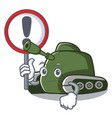 with sign tank character cartoon style vector image