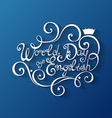 World Day of English Inscription vector image vector image