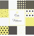 Cute different seamless patterns vector image