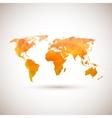 Low poly orange world map vector image