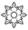 floral tattoo isolated icon design vector image