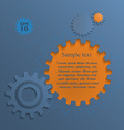Gear wheels abstract background vector image