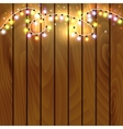 Christmas and New Year design on wooden background vector image