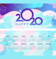 2020 calendar abstract background vector image vector image