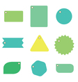 9 tags vector image vector image