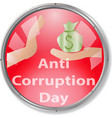anti corruption day sign and concept logo vector image vector image
