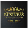 b business logo new creative golden floral design vector image