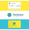 beautiful group avatar logo and business card vector image