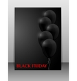 Black Friday sale card with balloons vector image vector image