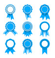 blue award medals vector image vector image