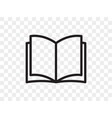 book line icon open book reader linear web app vector image