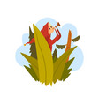 boy got lost in the forest child sitting on a vector image vector image