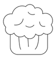 Cake muffin icon outline style vector image vector image