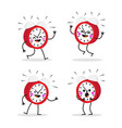 characters alarm clock set emotions and alarm vector image