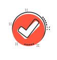 check mark icon in comic style ok accept cartoon vector image vector image