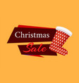 christmas sale label red santa stocking isolated vector image vector image