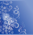 christmas snowflakes background blue vector image
