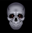 Chrome metal mysterious dark skull 01 vector image vector image