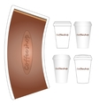 coffee paper cup mock-up layout vector image vector image