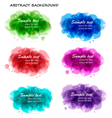 collection of colorful abstract backgrounds vector image vector image