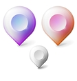 Colored realistic icons for markers geolocation vector image