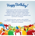 Colorful Birthday Card Template vector image