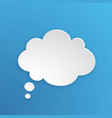 comic speech bubble cloud shape in paper version vector image