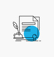 contract paper document agreement award line icon vector image