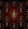 dark ornate damask 3d seamless pattern vector image