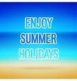Enjoy Summer Holidays typographic design vector image vector image
