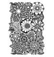 floral zentangle vector image vector image