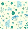 Garden flowers and herbs seamless background vector image vector image