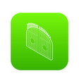 gate icon green vector image vector image