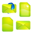 Green envelope and paper vector image