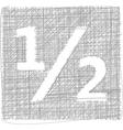 half sign - Freehand Symbol vector image