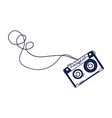 hand drawing audio cassette scribble music vector image