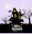 happy halloween with creative design vector image