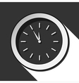 icon - last minute clock with shadow vector image vector image