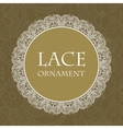 lace ornament background vector image vector image