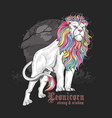 lion unicorn majestic full color vector image vector image