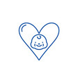 love to child line icon concept love to child vector image vector image