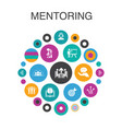 mentoring infographic circle concept smart ui vector image