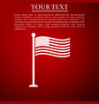 national flag of usa on flagpole icon isolated vector image