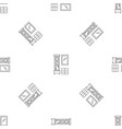 old room clock pattern seamless vector image vector image