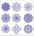 Ornament round set vector image vector image