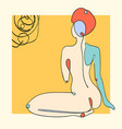 outline woman body on abstract vector image