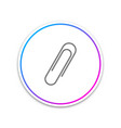 paper clip icon isolated on white background vector image vector image