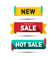 paper labels set business stickers with new and vector image vector image