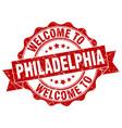 philadelphia round ribbon seal vector image vector image