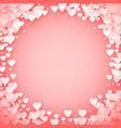 pink heart frame heart confetti frame valentines vector image vector image